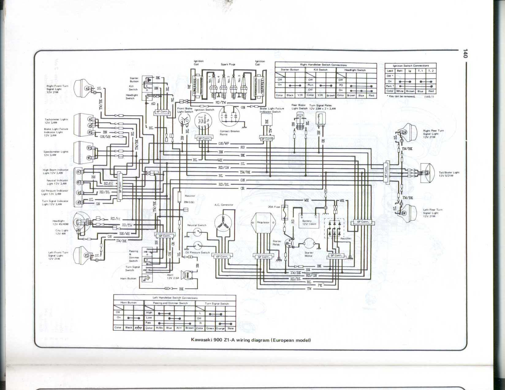 index of kz electrical rh kz900 com kawasaki z1 900 wiring diagram avic z1 wiring diagram